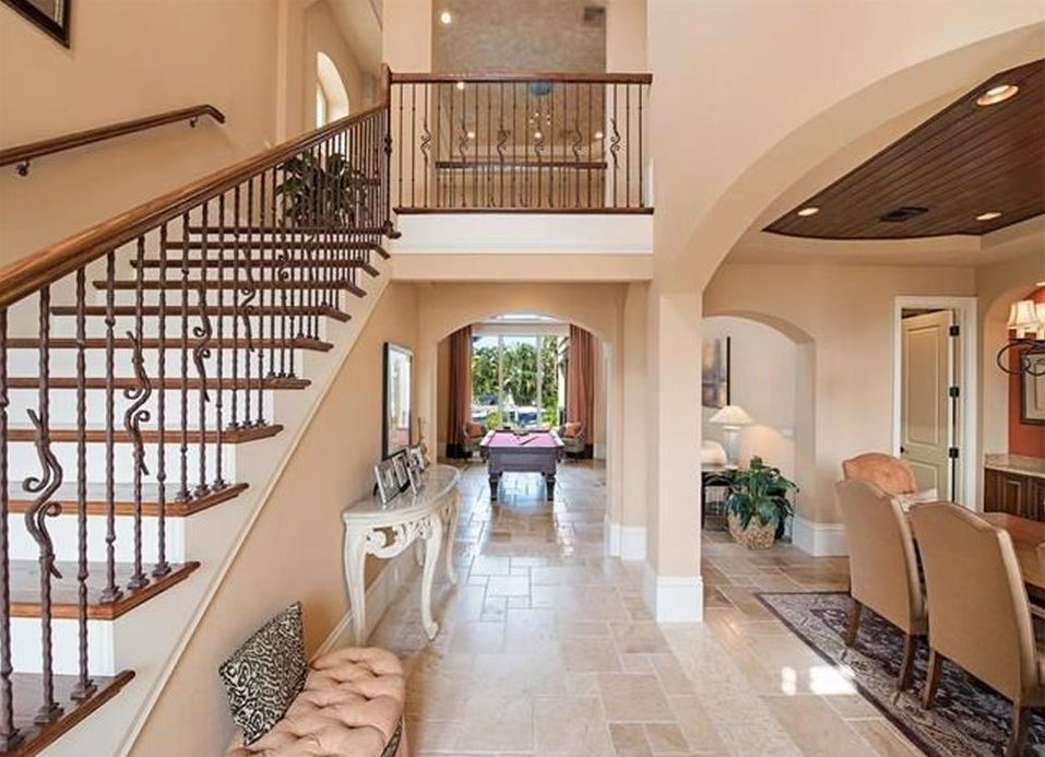 The Straight staircase leads you right up to the bridge balcony...